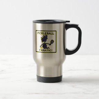 Pickleball Fanatic Gifts & T Shirts 15 Oz Stainless Steel Travel Mug