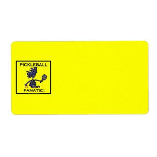 Pickleball Fanatic Label