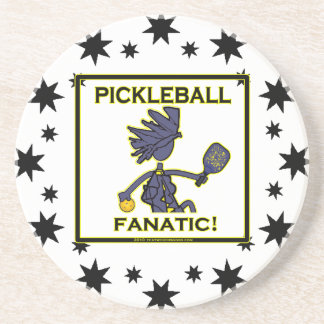 Pickleball Fanatic Sandstone Coaster