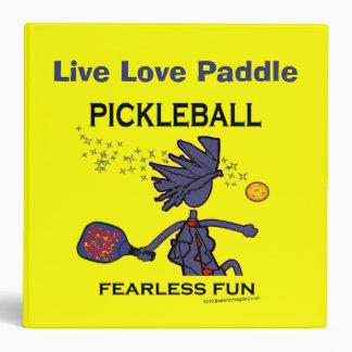 Pickleball Fearless Fun 3 Ring Binder