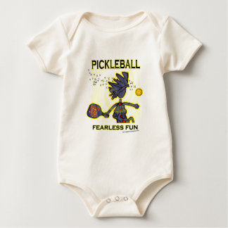 Pickleball Fearless Fun Baby Bodysuit