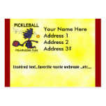 Pickleball Fearless Fun Large Business Cards (Pack Of 100)