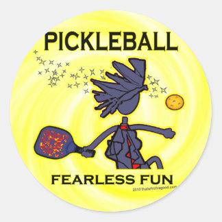 Pickleball Fearless Fun Classic Round Sticker