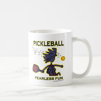 Pickleball Fearless Fun Classic White Coffee Mug