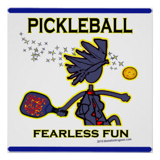 Pickleball Fearless Fun Poster