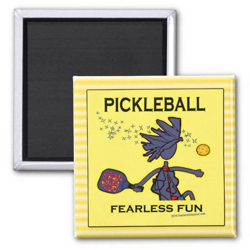 Pickleball Fearless Fun Refrigerator Magnets