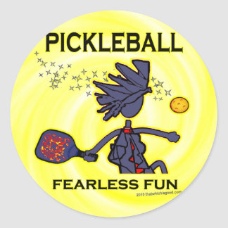 Pickleball Fearless Fun Round Sticker