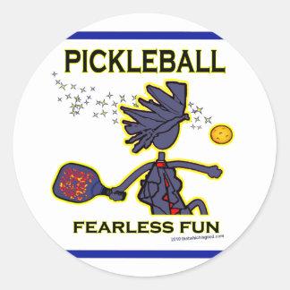 Pickleball Fearless Fun Stickers