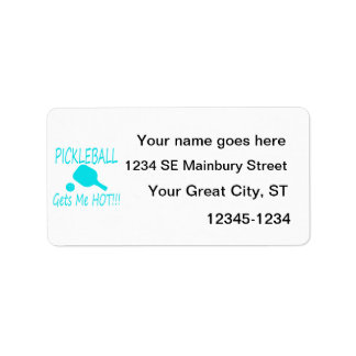 pickleball gets me hot real address label
