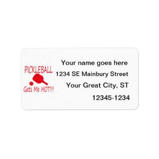 pickleball gets me hot red address label