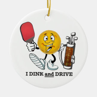 PIckleball/golf: Dink & Drive Ceramic Ornament