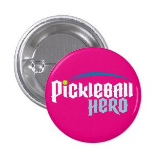 """Pickleball Hero"" Logo Button (pink)"