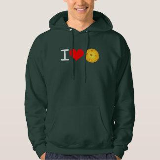 Pickleball Hoodie I Love Pickleball (Pickle Green)