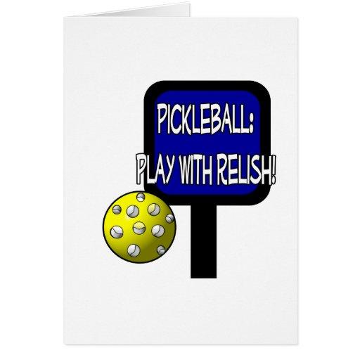 ¡Pickleball - juego con el condimento! Idea del re Tarjetas