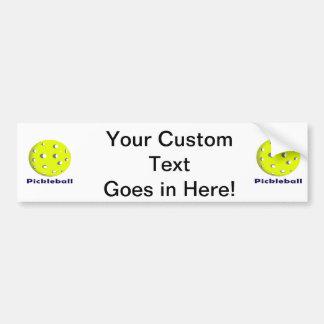 pickleball just ball n text.png car bumper sticker