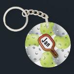 "Pickleball Keychain<br><div class=""desc"">Pickleball Keychain</div>"
