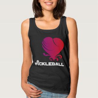 Pickleball Love - Fancy Heart Tank Top