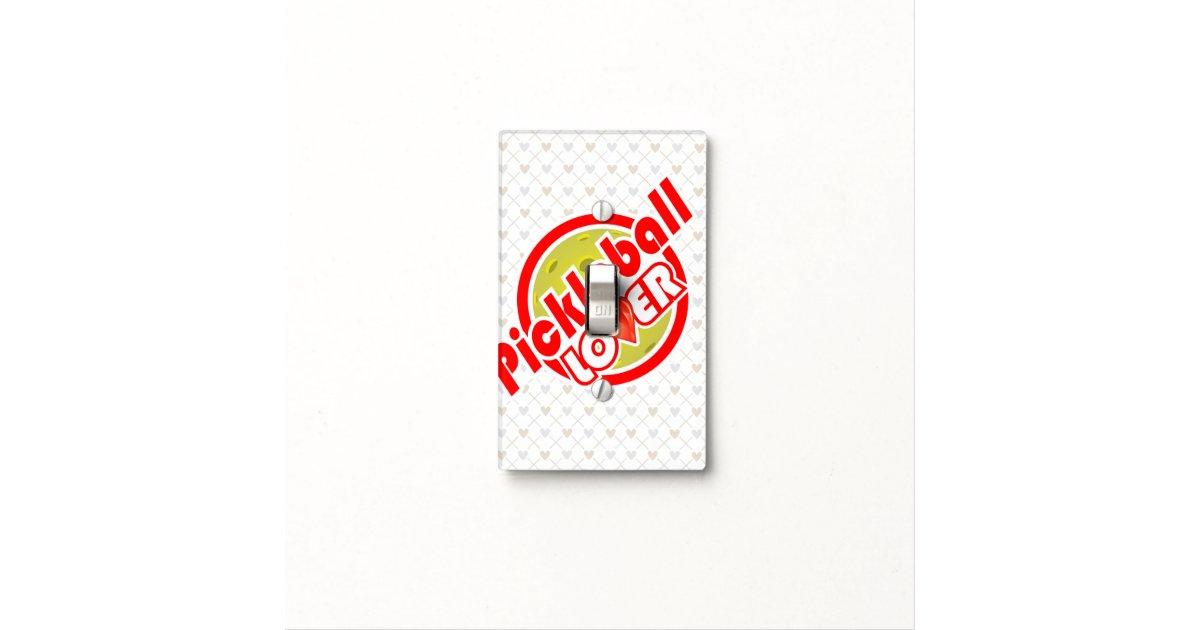 pickleball lover 2 light switch cover
