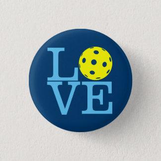 Pickleball Mini Button: LOVE (Blue) Pinback Button
