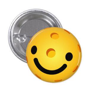 Pickleball Mini Button: Smiley Face Pinback Button