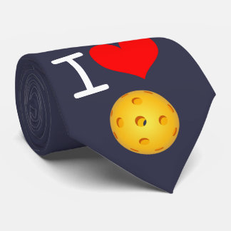 Pickleball Necktie: I Love Pickleball Tie