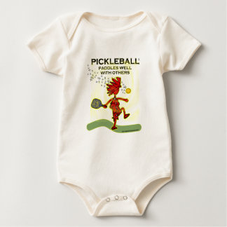 Pickleball Paddles Well With Others Baby Bodysuit