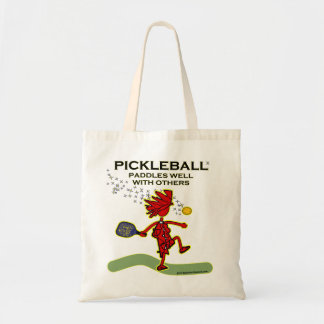 Pickleball Paddles Well With Others Budget Tote Bag