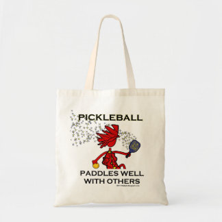 Pickleball Paddles Well With Others Canvas Bags