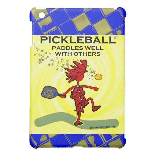 Pickleball Paddles Well With Others iPad Mini Case