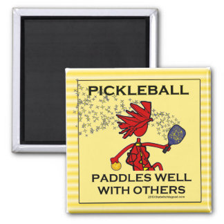Pickleball Paddles Well With Others Magnets