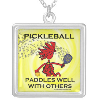 Pickleball Paddles Well With Others Personalized Necklace