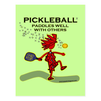 Pickleball Paddles Well With Others Postcard