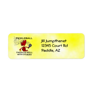 Pickleball Paddles Well With Others Return Address Label