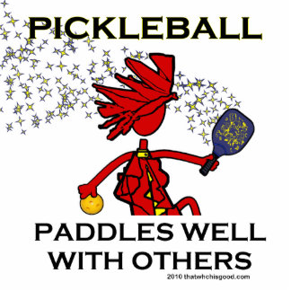 Pickleball Paddles Well With Others Statuette