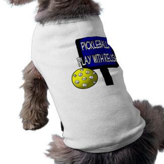 Pickleball - Play with Relish! Design gift idea Doggie Tshirt