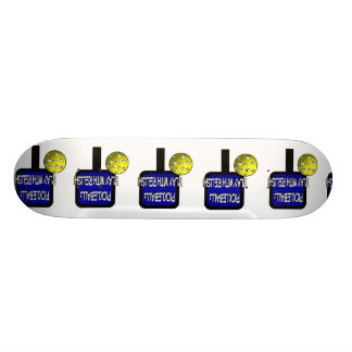 Pickleball - Play with Relish! Design gift idea Skateboard