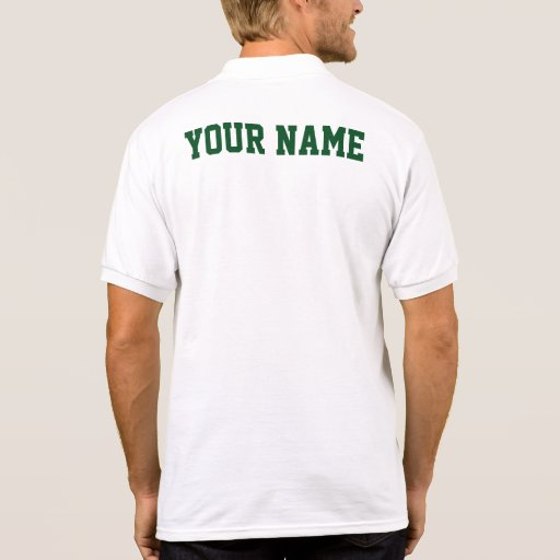 pickleball polo shirt jersey name on back zazzle