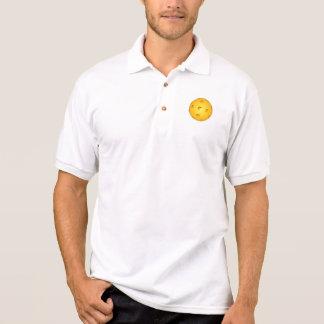 Pickleball Polo Shirt: Pickleball on White (Men)