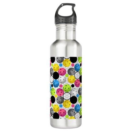 Pickleball Print Water Bottle