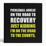 Pickleball Raod To Rocvery Courts 3 Ring Binder
