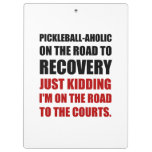 Pickleball Raod To Rocvery Courts Clipboard