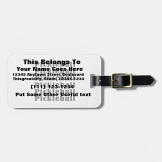 pickleball repeat black.png tag for luggage