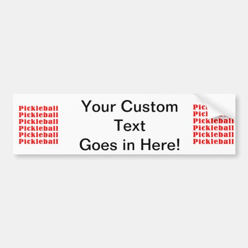 pickleball repeat red.png bumper sticker