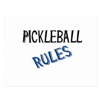 pickleball rules bernice black blue pickle ball postcard