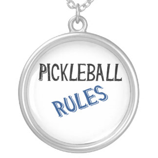 pickleball rules bernice black blue pickle ball silver plated necklace