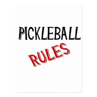 pickleball rules bernice black red postcard