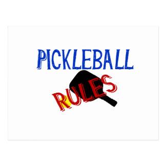 pickleball rules bernice red black blue paddle postcard