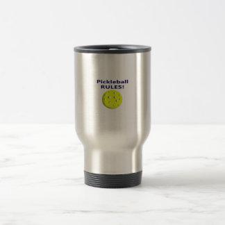 pickleball rules blue text version mug