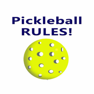 pickleball rules blue text version acrylic cut outs