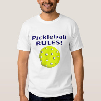 pickleball rules blue text version tee shirt